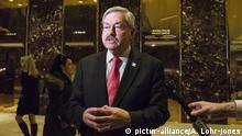 06.12.2016 +++ Following his meeting with United States President-elect Donald Trump, Governor Terry Branstad (Republican of Iowa) speaks to the press in the lobby of Trump Tower in New York, New York, USA on December 6, 2016. Photo Credit: Albin Lohr-Jones/CNP/AdMedia  