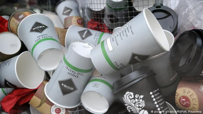 Thousands of one way 'coffee to go' cups land daily in the garbage before dirthing the city