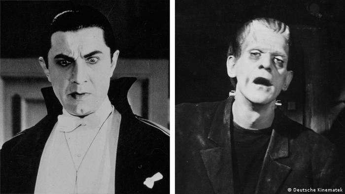 Bela Lugosi as Dracula and Boris Karloff as Frankenstein. (Deutsche Kinematek)