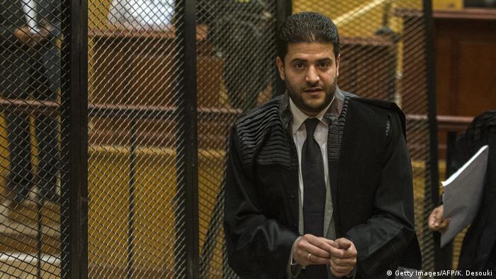 Ägyten | Osama Mohamed Morsi während der Gerichtsverhandlung gegen seinen Vater Mohamed Morsi