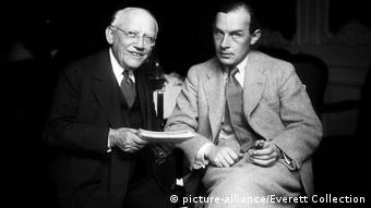 Universal boss Carl Laemmle with All Quiet on the Western Front writer Erich Maria Remarque in 1930