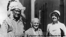 ca. 1930s Jim Thorpe, Carl Laemmle, Lucille Browne, historical,  