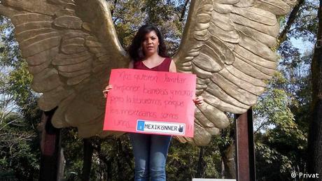 Una participante del proyecto #MEX_MANIA.