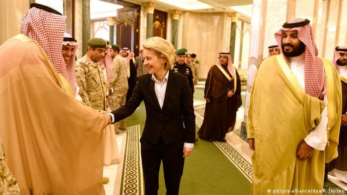 Saudi-Arabien Verteidigungsminister von der Leyen & bin Salman al-Saud