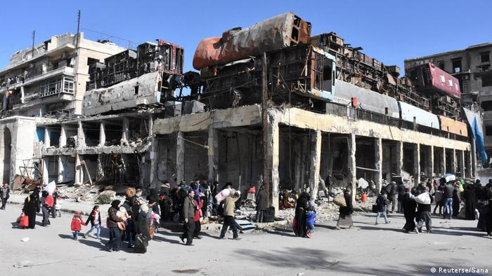 Syrien Krieg - Kämpfe in Aleppo (Reuterse/Sana)