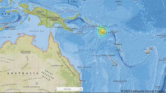 US USGS Earthquake Hazards Program - Meldung Erdbeben Salomonen-Inseln (USGS Earthquake Hazards Program)