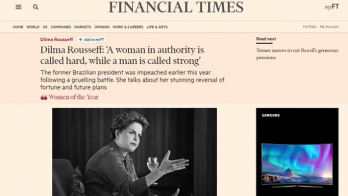 Screenshot Financial Times