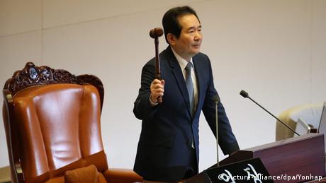 Südkoreas Parlament entscheidet über Amtsenthebung von Präsidentin Park (picture-alliance/dpa/Yonhap)