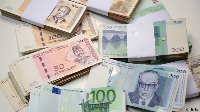 Bosnien Geldscheine konvertible Währung (Klix.ba)