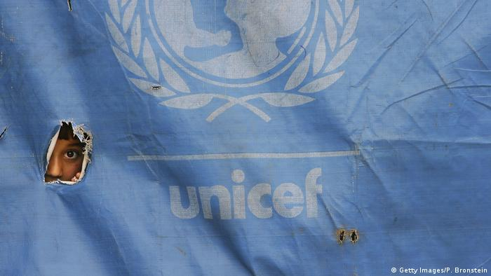 UNICEF Symbolbild Zelt in Faisabad Afghanistan (Getty Images/P. Bronstein)