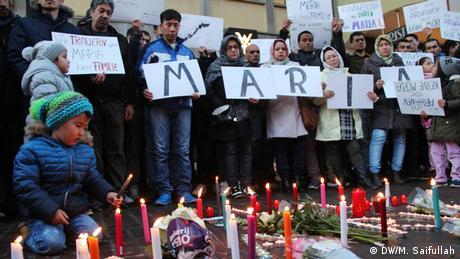 Freiburg Gedenken an die ermordete Studentin Maria (DW/M. Saifullah)
