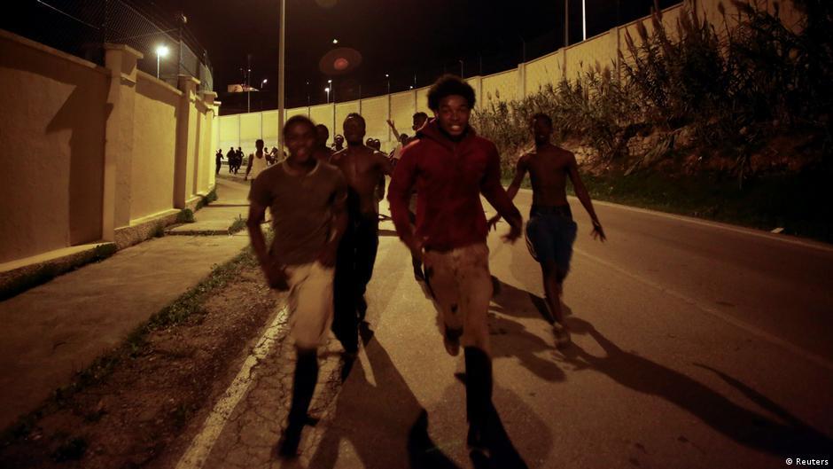 Hundreds of African migrants enter Spain through Ceuta border