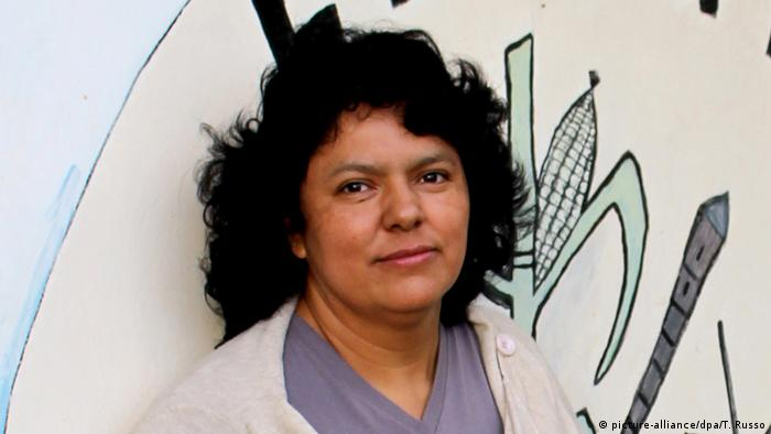 Umweltschützerin Berta Caceres (picture-alliance/dpa/T. Russo)