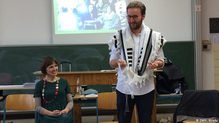 Mascha Schmerling und Monty Ott at the Rent-a-Jew seminar