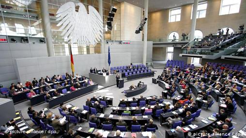 The Bundestag in session