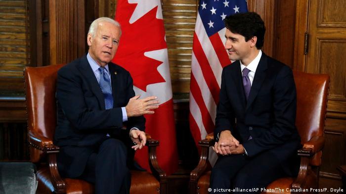 Kanada Justin Trudeau und Joe Biden in Otawa