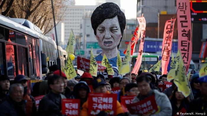 Südkorea Protest gegen Präsidentin Park Geun Hye & Forderung nach Rücktritt