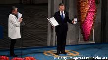 Friedensnobelpreis 2016 an Juan Manuel Santos, Präsident Kolumbien - Preisverleihung in Oslo