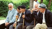 Iran alte Menschen Rente