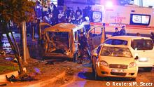 10.12.2016*** Police arrive at the site of an explosion in central Istanbul, Turkey, December 10, 2016. REUTERS/Murad Sezer