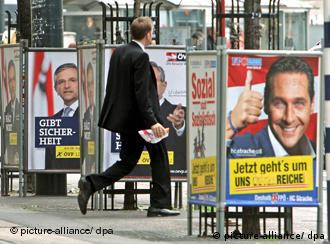 Election posters in Vienna
