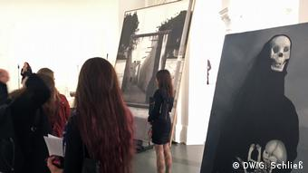 Women at an art exhibition in Berlin
