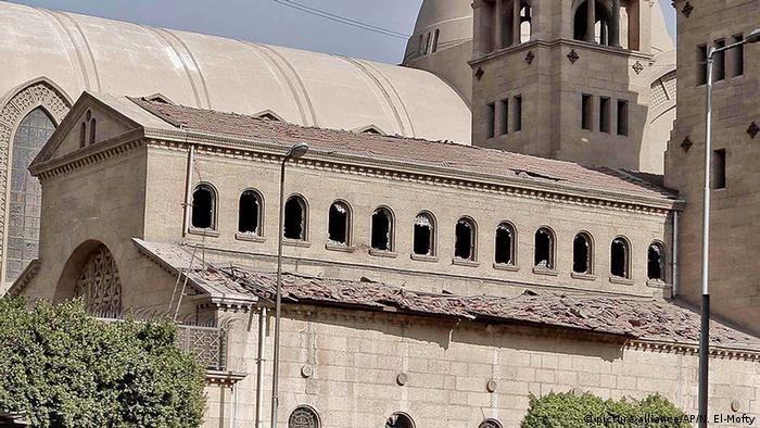 Ägypten Kairo Anschlag Markuskathedrale (picture-alliance/AP/N. El-Mofty)