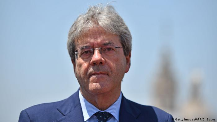 Paolo Gentiloni Außenminister Italien (Getty Images/AFP/G. Bouys)