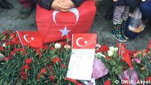 Anschlagsort Istanbul Besiktas/Vodafone Arena. Menschen Protestieren die Anschläge