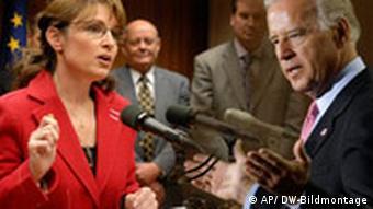 Palin und Biden. Die beiden Vizepräsidenkanditaten. DW Bildmontage