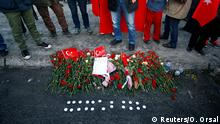 11.12.2016*** Flowers are seen at the scene of Saturday's blasts in Istanbul, Turkey December 11, 2016. REUTERS/Osman Orsal