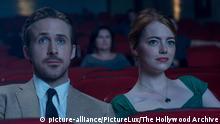 Mia (Emma Stone) and Sebastian (Ryan Gosling) in LA LA LAND. (2016) Lionsgate   Keine Weitergabe an Wiederverkäufer.