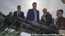 06.04.2016*** , Batajnica, Serbia - Serbian Prime Minister Aleksandar Vucic in a visit to the military airport in Batajnica attended the opening ceremony of a new hangar for the needs of the Air Force and the promotion of a new modern weapons, which is produced in Serbia. Photo: Srdjan Ilic/PIXSELL  