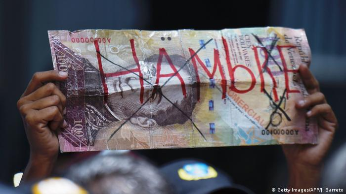 Symbolbild Venezuela Bolivar (Getty Images/AFP/J. Barreto)