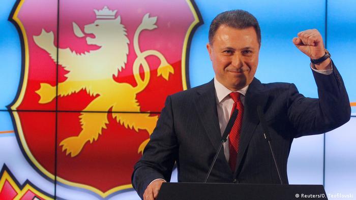 Mazedonien Wahlen - VMRO-DPMNE Gruevski (Reuters/O. Teofilovski)