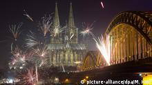 Deutschland Silvester in Köln