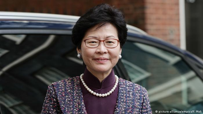 Hong Kong Wahlen Carrie Lam Kandidatin (picture-alliance/empics/Y. Mok)