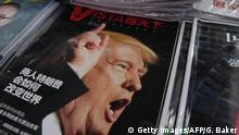 12.12.2016+++ A magazine featuring US President-elect Donald Trump is seen at a bookstore in Beijing on December 12, 2016. The headline reads How will businessman Trump change the world. Beijing is seriously concerned by US president-elect Donald Trump's suggestion that he could drop Washington's One China policy unless the mainland makes concessions on trade and other issues, it said on December 12. / AFP / GREG BAKER (Photo credit should read GREG BAKER/AFP/Getty Images)