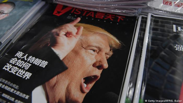 Trump on the cover of a Chinese magazine