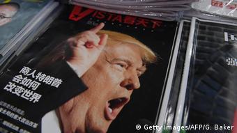 China Donald Trump auf Titelseite einer Zeitschrift