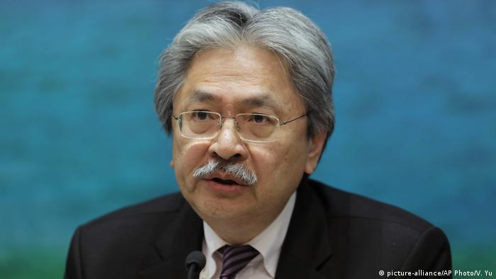 Hong Kong Wahlen John Tsang Kandidat (picture-alliance/AP Photo/V. Yu)