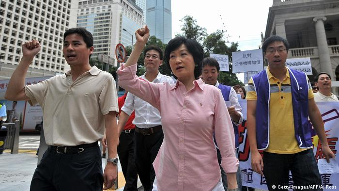 Hong Kong Wahlen Regina Ip Kandidatin (Getty Images/AFP/A. Ross)
