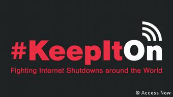 Logo of the #keepiton campaign (Access Now)