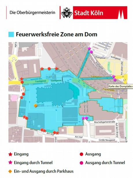 Map of designated fireworks-free zone