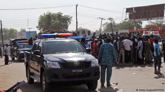 Nideria Zwei Mädchen üben Selbstmordanschlag in Maiduguri aus