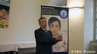 Taghi Rahmani im Dezember 2016 bei der Verleihung des Weimarer Menschenrechtspreises 2016