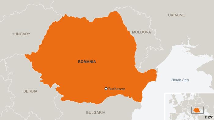 Karte Rumänien und Nachbarstaaten Englisch