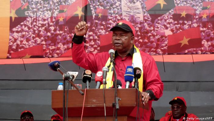 Angola's MPLA candidate Joao Lourenco