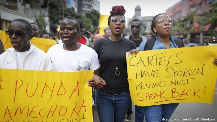 Kenyans protesting against corruption (picture alliance/dpa/D. Kurokawa)