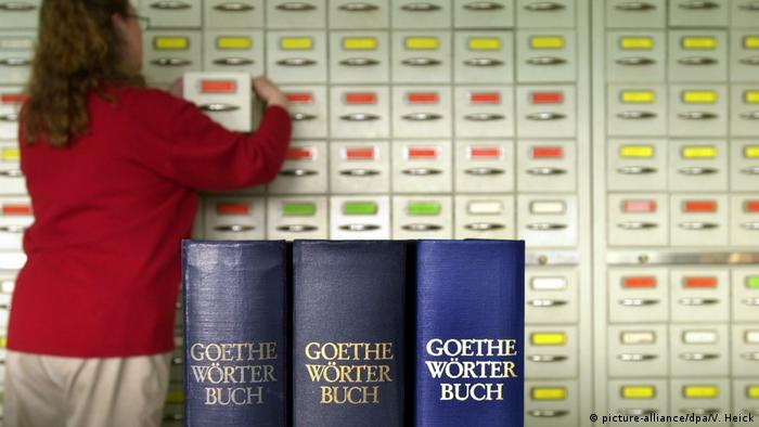 Goethe-Wörterbuch (picture-alliance/dpa/V. Heick)